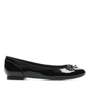 Clarks Womens Couture Bloom Black Patent Shoes